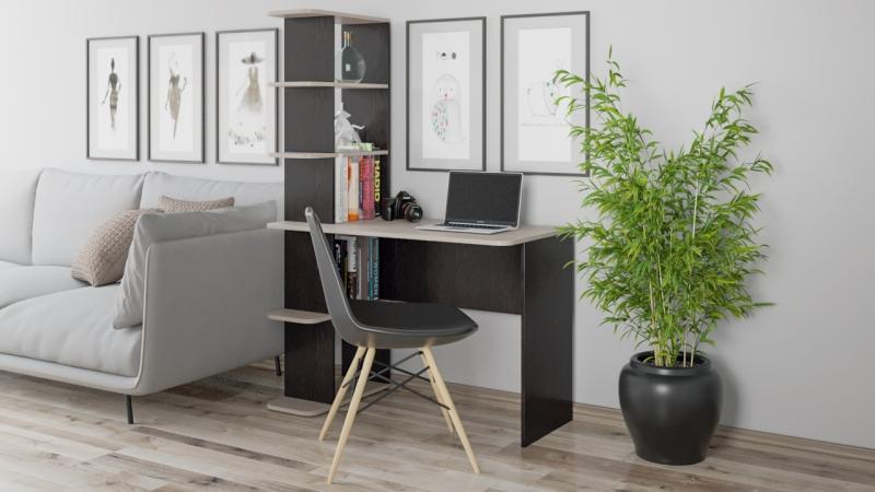 - Стол письменный тип 4 (Дуб Молочный/Венге Цаво)
