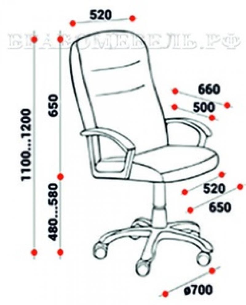 """- Кресло для руководителей """"Стинг"""""""