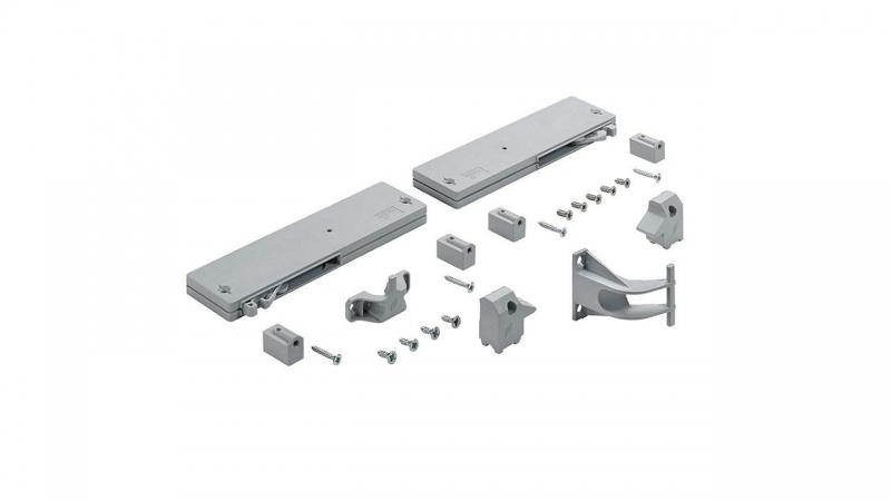 - Комплект доводчиков (закрывание) на 2 двери для 3-х дверного шкафа «Траст»