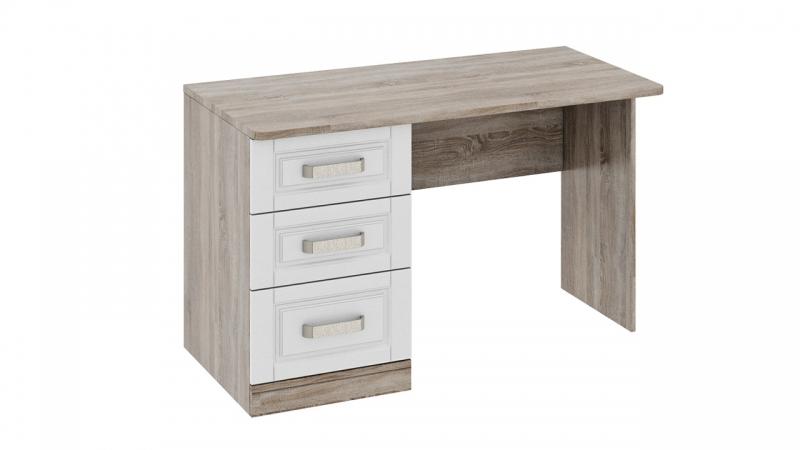 - Письменный стол с 3-мя ящиками «Прованс» (Дуб Сонома трюфель/Крем)