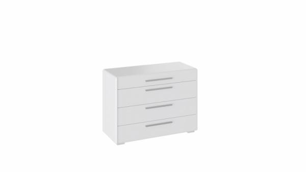 Комод с 4-мя ящиками «Наоми» (Белый глянец)