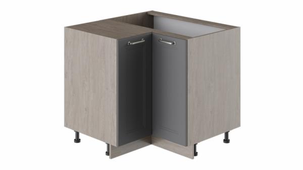 Шкаф напольный угловой с углом 90° НУ90-72_2ДР(НУ) (ОДРИ (Серый шелк))