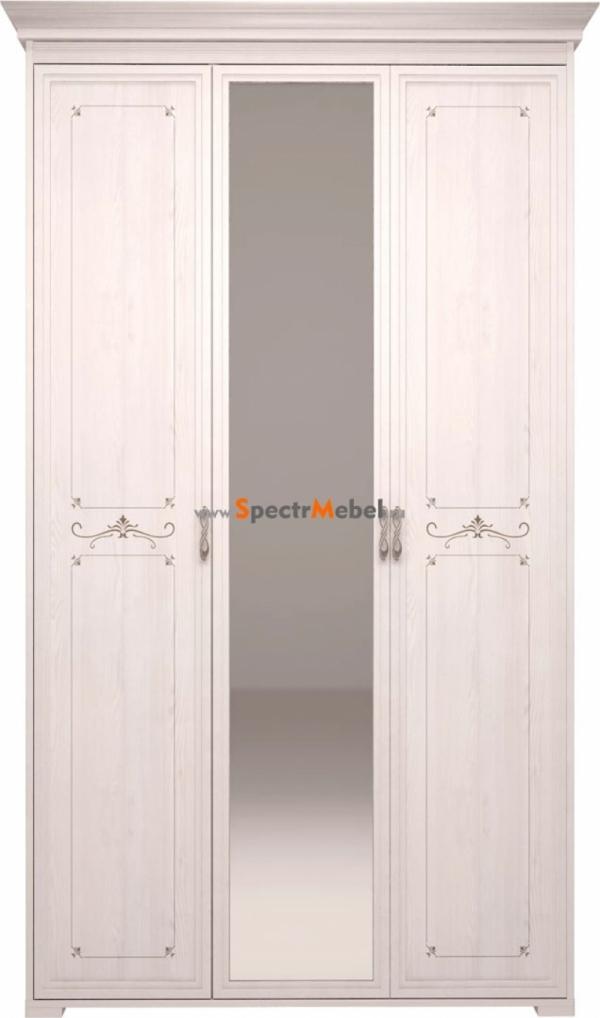 Шкаф трехдверный ШхВхГ 1221x2229x564 Afrodita с зеркалом