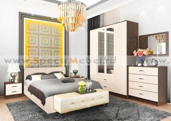 Кровать с матрасом белая