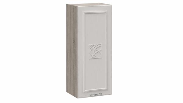 Шкаф навесной c декором В_96-40_1ДР(Д) Серо-бежевая 96 см