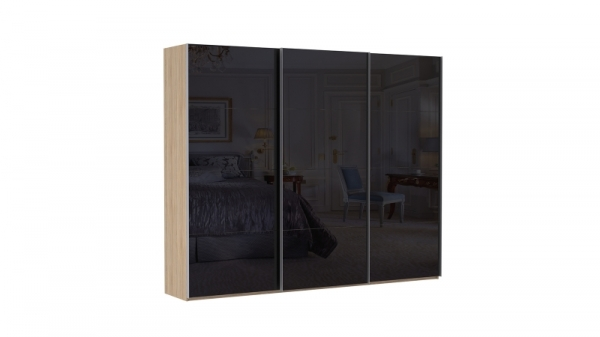 Шкаф-купе трехдверный INNOVO Black Glass
