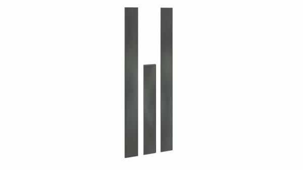 Комплект декоративных планок для комплектации шкафа с 3-мя дверями «Наоми» (Фон серый)