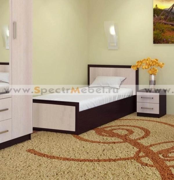 Кровать Модерн -2 1050х750х2032 венге\дуб