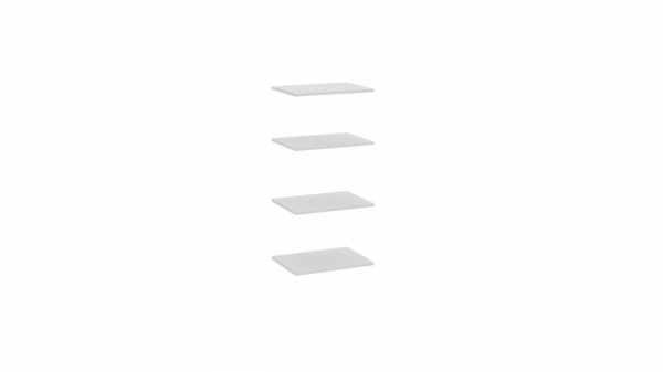 Комплект полок шкафа «Ривьера» (Белый)