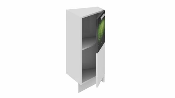 Шкаф напольный нестандартный торцевой (правый) НнТ_72-40(45)_1ДР(А) (Фэнтези (Грасс))