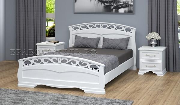 """Кровать """"Грация 1"""" античный белый"""