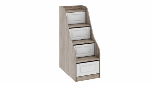 Лестница приставная с ящиками «Прованс» (Дуб Сонома трюфель/Крем)