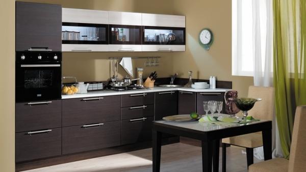 Модульная кухня «Латте-2» (Ларч темный, Ларч светлый)