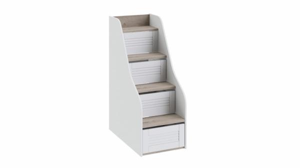 Лестница приставная для двухъярусной кровати «Ривьера» (Дуб Бонифацио/Белый)