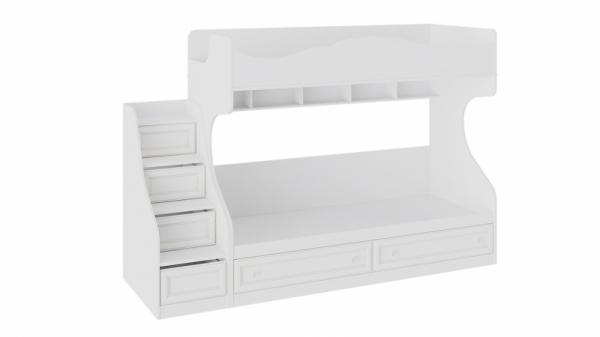 Кровать 2-х ярусная с приставной лестницей «Франческа» (Дуб Седан)