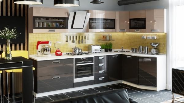 Модульная кухня «Бьюти» (БЬЮТИ (Капучино))