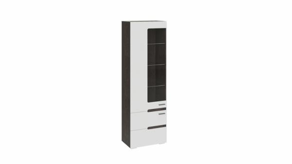 Шкаф для посуды «Фьюжн» (Белый глянец, Венге Линум)