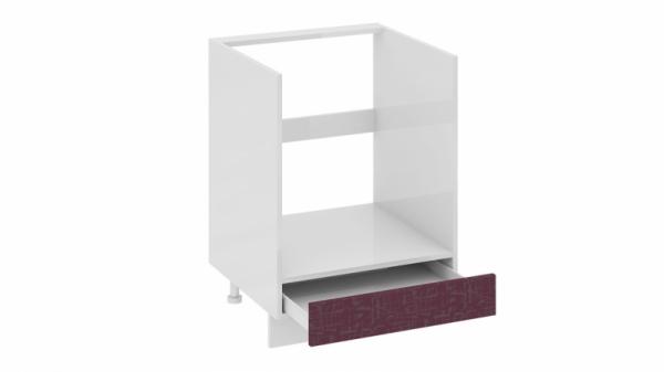 Шкаф напольный под бытовую технику с 1-м ящиком НБ1я_72(12)-60_1Я Сиреневая