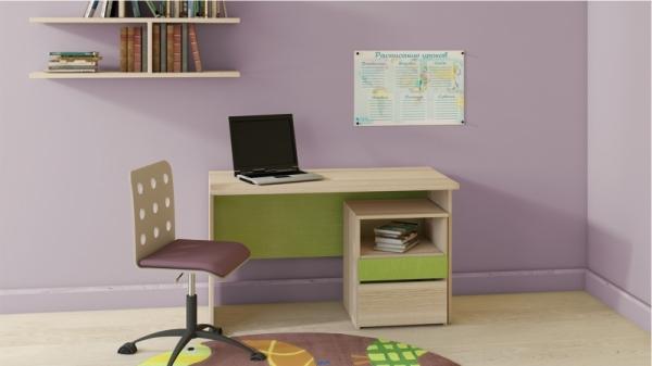 Детский письменный стол «Киви» № 10 (Панареа, Ясень Коимбра)