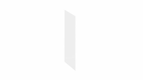 Панель боковая декоративная (Верхняя) (БЕЛЫЙ Универсальный)