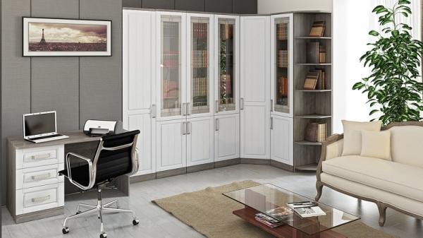 «Прованс» модульная мебель для офиса (Дуб Сонома трюфель/Крем)
