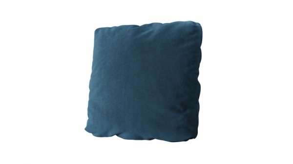Подушка малая П1 (Beauty 07 (велюр) синий)