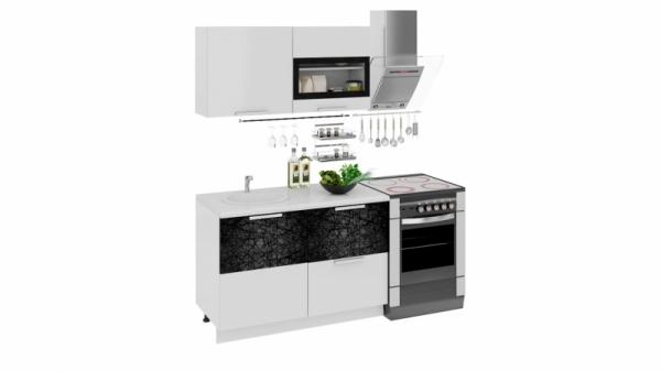 Кухонный гарнитур длиной - 180 см (ФЭНТЕЗИ (Белый универс.)/(Лайнс))