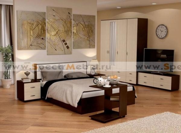 Спальный гарнитур Сонет кровать с ПМ