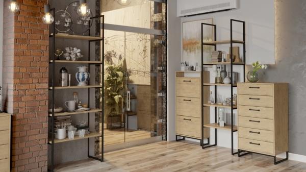 Набор мебели «Лофт» №3 (Черный/Бунратти)
