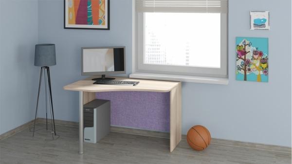 Угловой письменный стол «Индиго» (Навигатор, Ясень Коимбра)