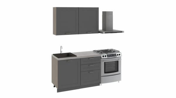 Кухонный гарнитур стандартный набор «Одри» (ОДРИ (Серый шелк))