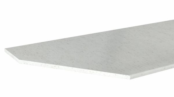 Крышка стола торцевая 600х700 левая (Белый Камень)