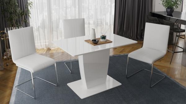 Стол раздвижной «Монтана» Тип 1 (Белый глянец)