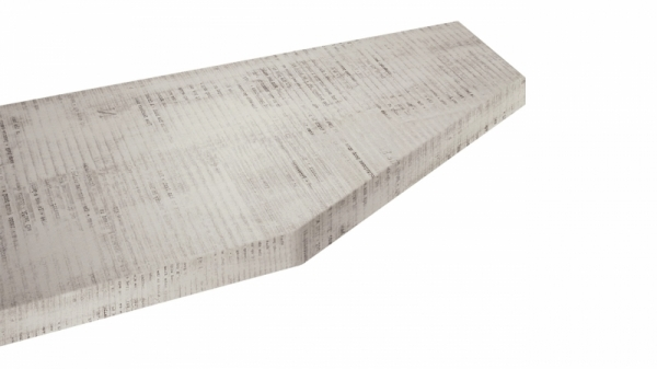 Крышка стола торцевая 40х450х1500 правая (Daily)