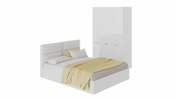 Спальный гарнитур «Глосс» стандартный (Белый глянец)