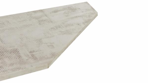 Крышка стола торцевая 40х600х1500 правая (Daily)