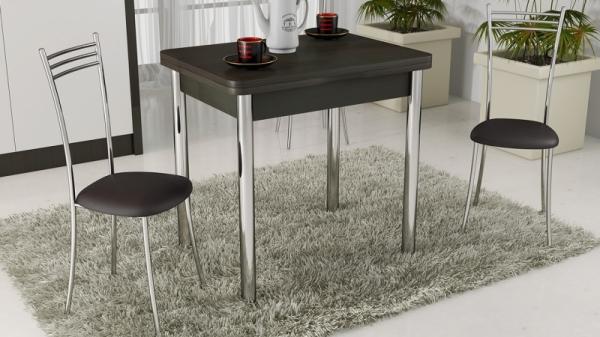 Стол обеденный с хромированными ножками «Лион» (Венге)