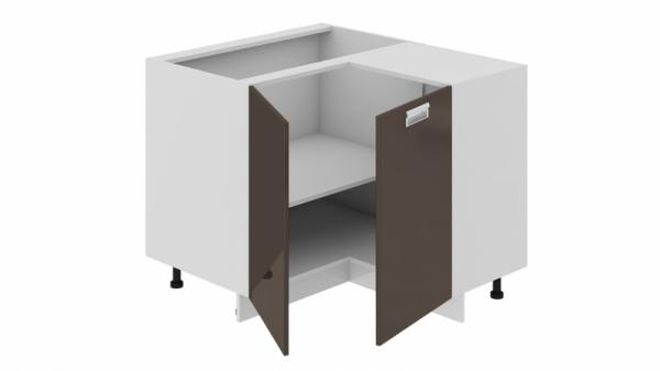 Шкаф напольный нестандартный угловой с углом 90° НнУ90_72_2ДР(НнУ) (БЬЮТИ (Грэй))