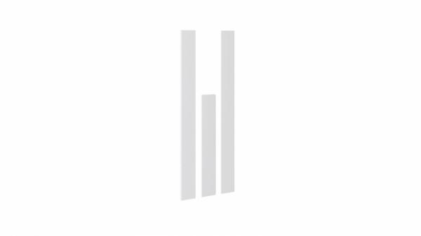 Комплект декоративных планок для комплектации шкафа с 3-мя дверями «Наоми» (Белый глянец)
