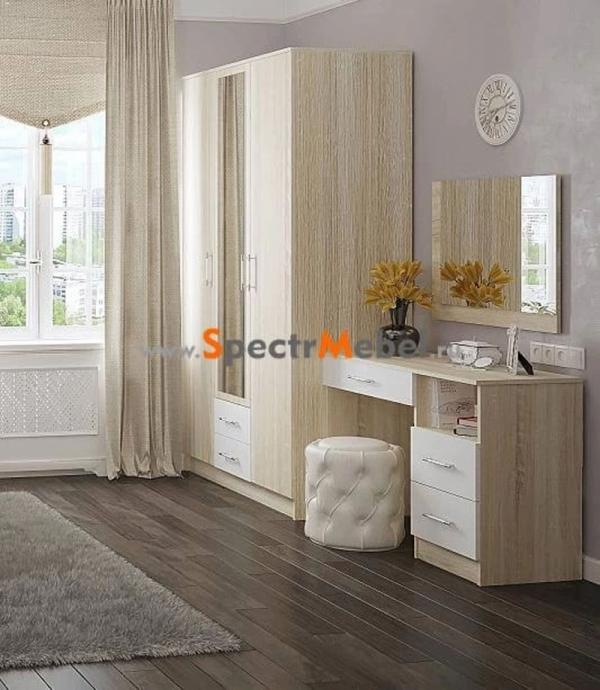 Шкаф 3-х дверный ШхВхГ 1200х2100х577 дуб сонома