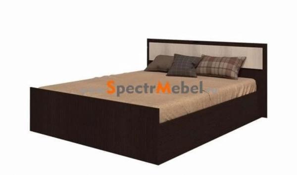 Комплект кровать Фиеста с матрасом 1550х750х2032 венге\лоредо