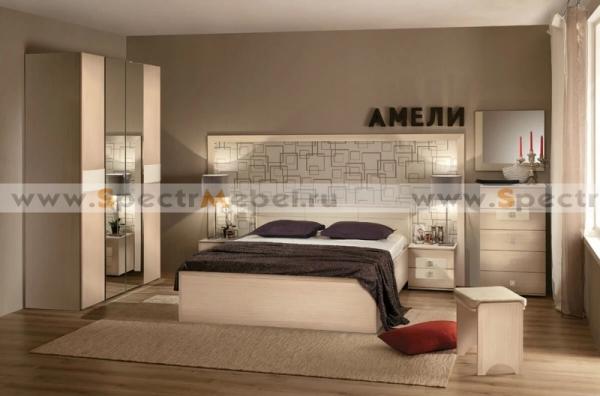 """Спальня """"Амели"""" комплект дуб беленый"""
