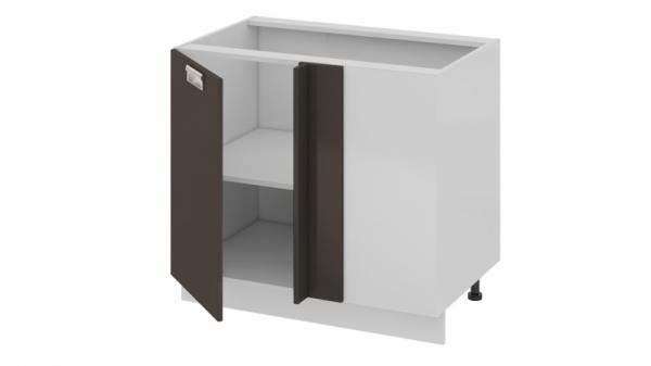 Шкаф напольный с планками для формирования угла (левый) Н_72-90_1ДРпУ(Б) (БЬЮТИ (Грэй))