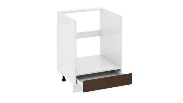 Шкаф напольный под бытовую технику с 1-м ящиком НБ1я_72(12)-60_1Я Коричневая