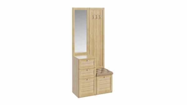 Вешалка комбинированная с зеркалом и крючками «Ривьера» (Дуб Ривьера)