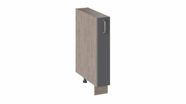 Шкаф напольный с выдвижной корзиной НВК_72-15_ВК (ОДРИ (Серый шелк))