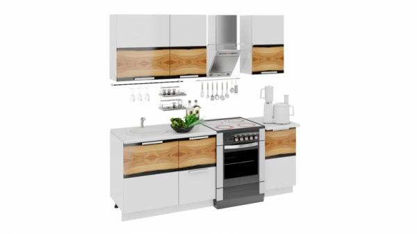 Кухонный гарнитур длиной - 210 см (ФЭНТЕЗИ (Вуд))