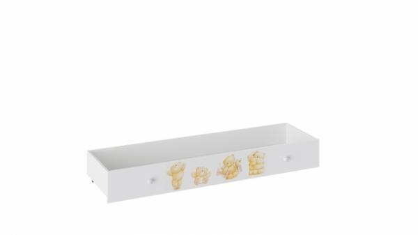 Ящик для кровати «Тедди» (Белый с рисунком)
