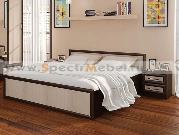 Кровать Модерн двуспальная венге\дуб