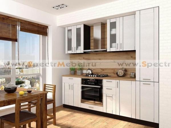 Кухня Лофт 2,3 м белая